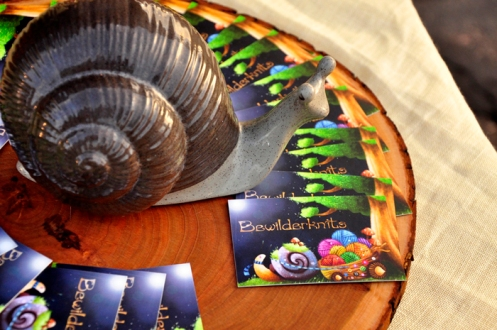 New Bewilderknits biz cards